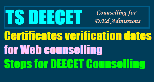 Counselling for DEECET today