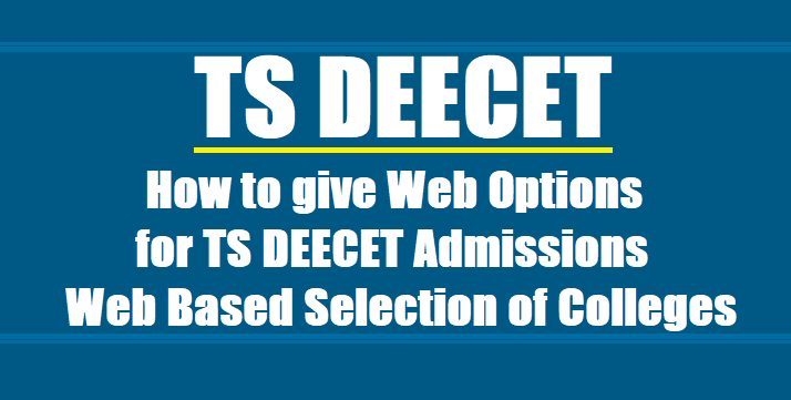 DEECET-2019 web counselling on July 18, 19