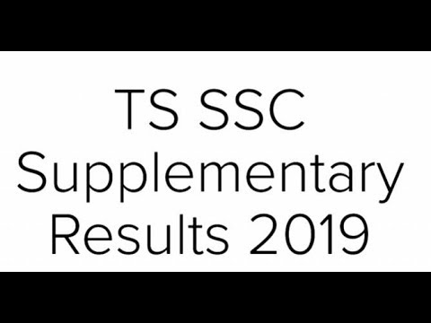 TS SSC supplementary results 2019 released