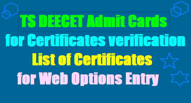 Verification of DEECET candidates