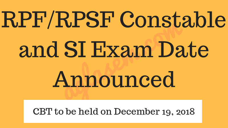 RPF exam on Dec 19