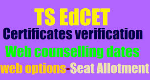 Certificate verification for Edcet from Sep 7