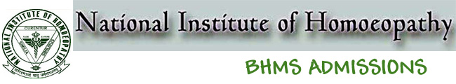 Applications are invited for Admission into BHMS Degree course in Homoeopathy