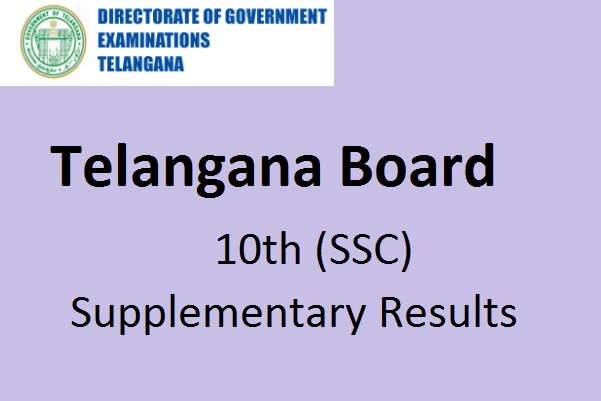 Telangana SSC supplementary results to be released today