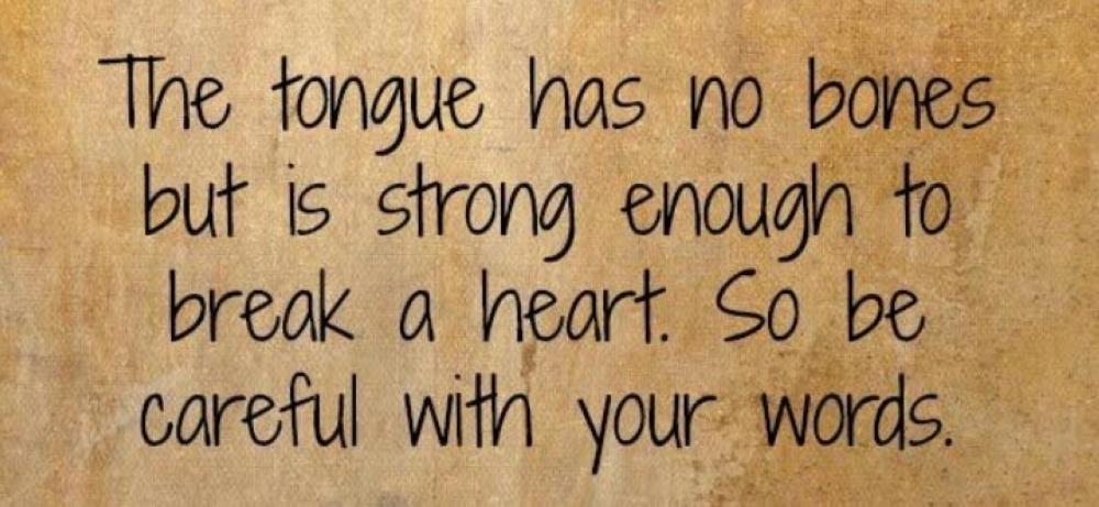 A friendly tongue matters!