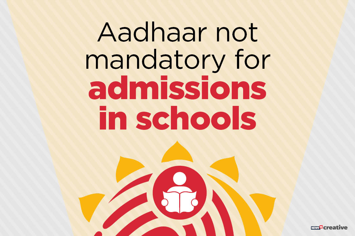 Aadhaar not mandatory for admission in schools: UIDAI
