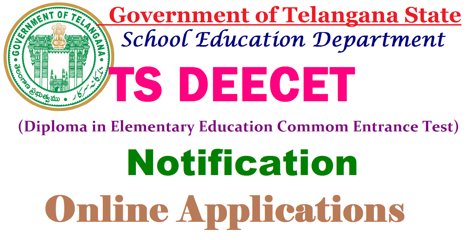 Online applications for DEECET from April 21