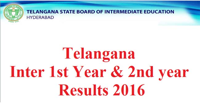 Telangana Intermediate results to be declared tomorrow