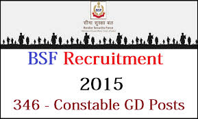 BSF Recruitment 2015 for Constable post