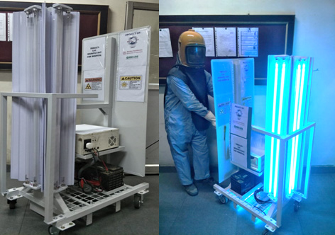 Hyderabad based Reevax Pharma deployed Coronavirus disinfecting robot to Gandhi Hospital