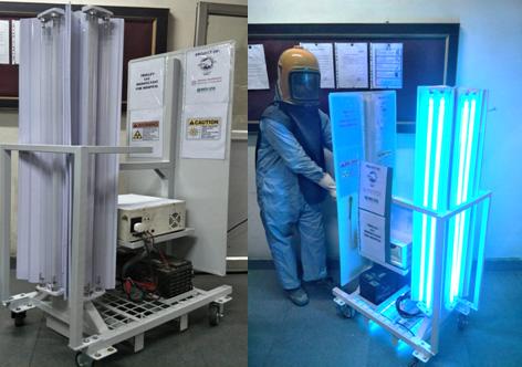 Hyderabad based Reevax Pharma deployed Coronavirus disinfecting robot to Gandhi Hospital