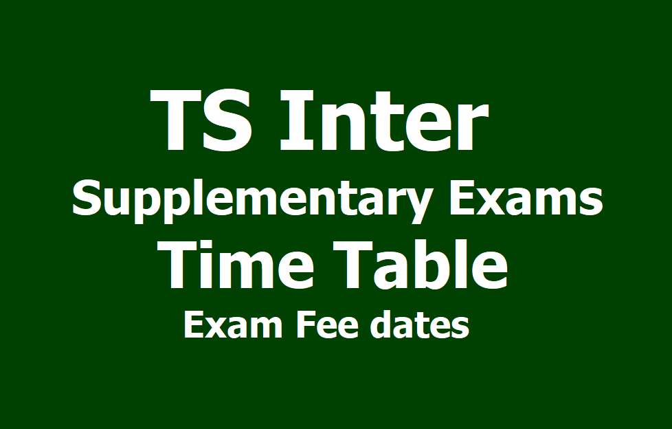 TSBIE revises exam time table