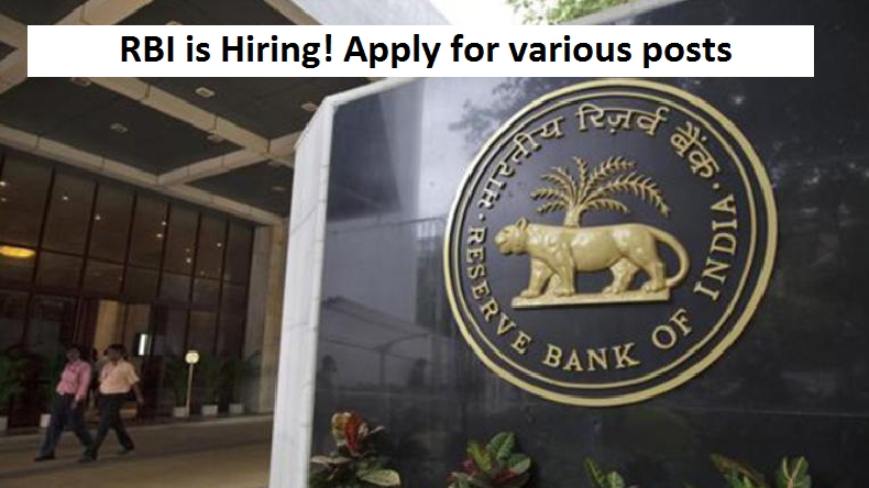 RBI recruitment 2018: Apply for various posts at rbi.org.in