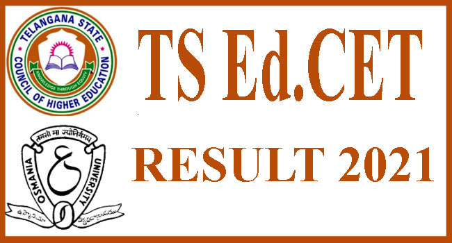TS EdCET 2021 results declared