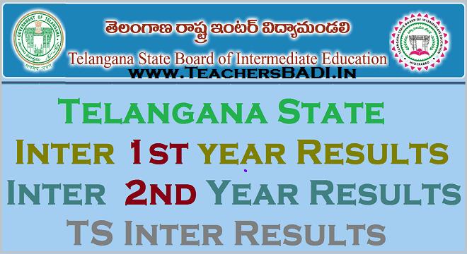 Telangana State Inter results tomorrow