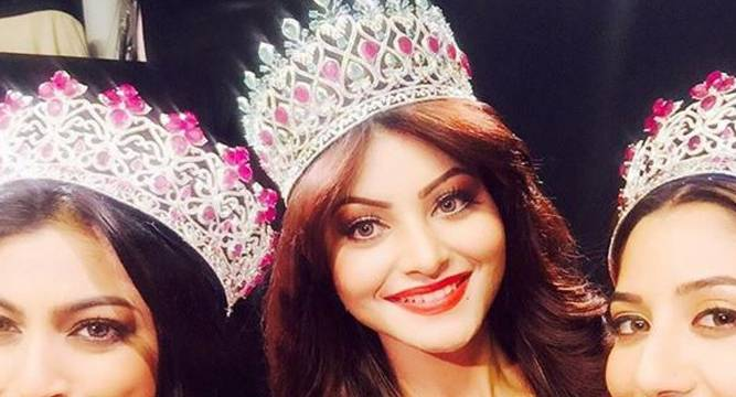 Actress Urvashi Rautela crowned Miss Diva 2015