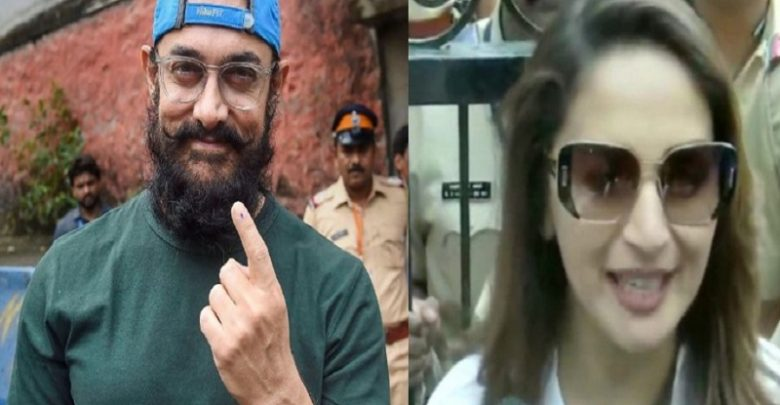 Maharashtra polls: Aamir Khan, Madhuri Dixit cast vote
