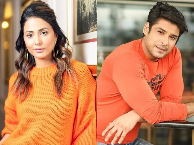 Former contestant Hina Khan and Sidharth Shukla shoot for Bigg Boss 14 promo