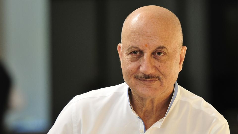 Anupam Kher today went by the grounds unannounced