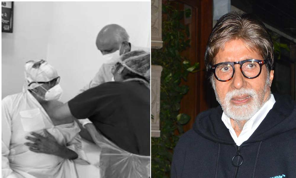 Amitabh Bachchan receives Covid-19 vaccine