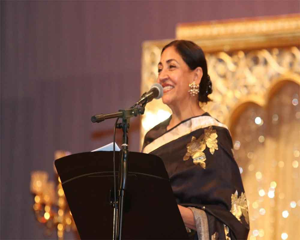 Deepti Naval honoured with Excellence in Cinema Award