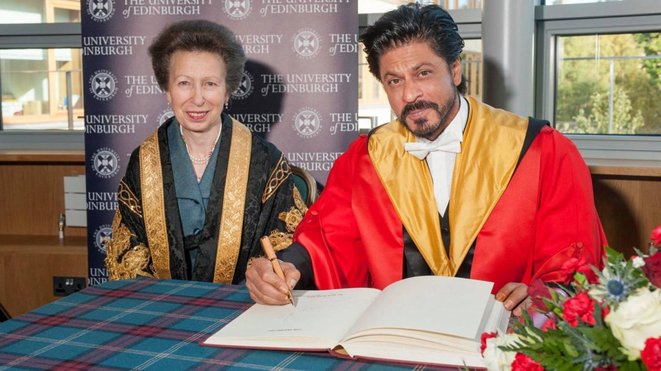 SRK receives honorary doctorate from Edinburgh University