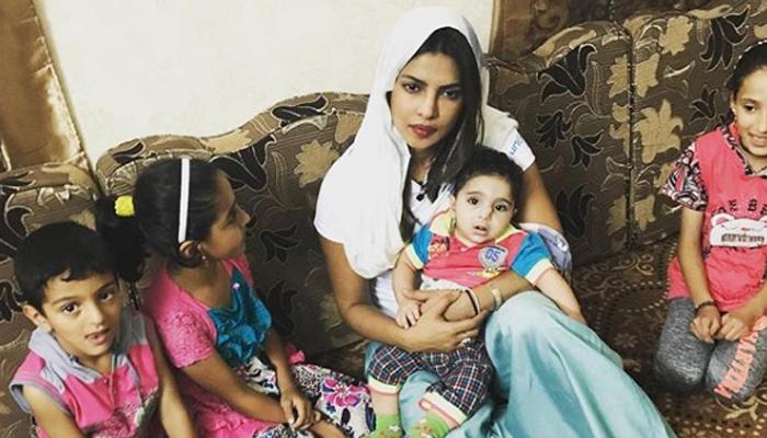 Priyanka Chopra meets Syrian refugees in Jordan