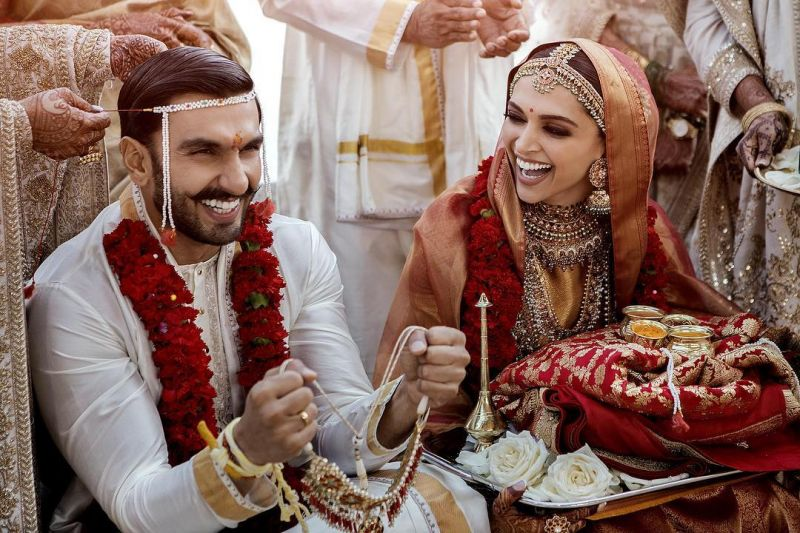 Deepika, Ranveer share first wedding pictures