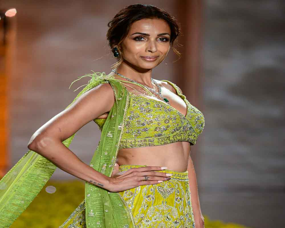 Malaika Arora walks for Sulakshana Monga at ICW 2019