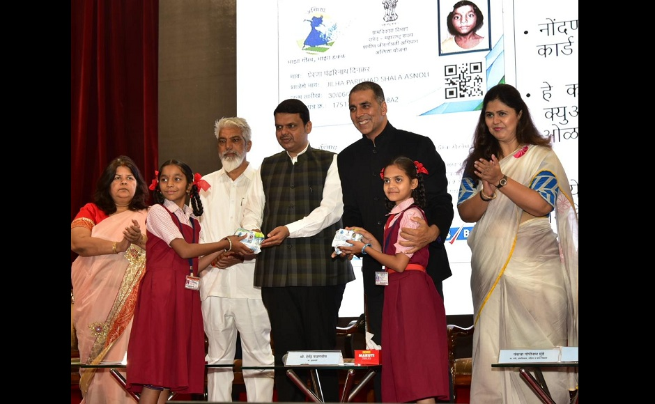 Akshay Kumar and Chief Minister Devendra Fadnavis announced the initiative Asmita on Women