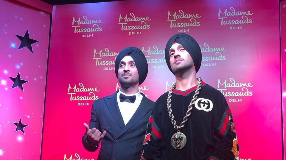 Diljit Dosanjh unveils his wax statue at Delhi
