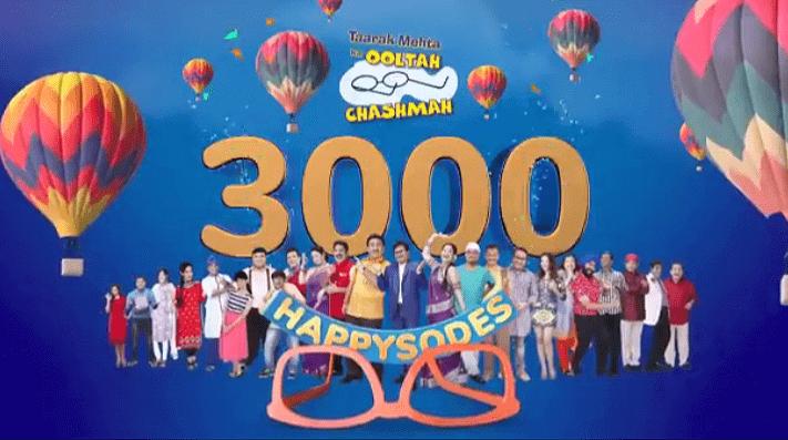 SAB TV popular show Taarak Mehta Ka Ooltah Chashmah completes 3000 episodes