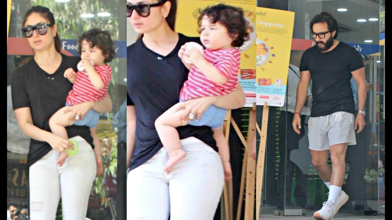 Kareena, Saif go on a shopping  spree with son Taimur