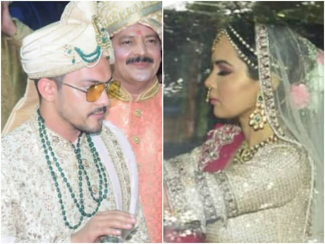 Aditya Narayan and Actor Shweta Agarwal had a temple wedding today