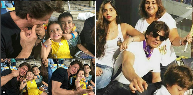 The adorable photos of SRK posing with Ziva went viral on social media.