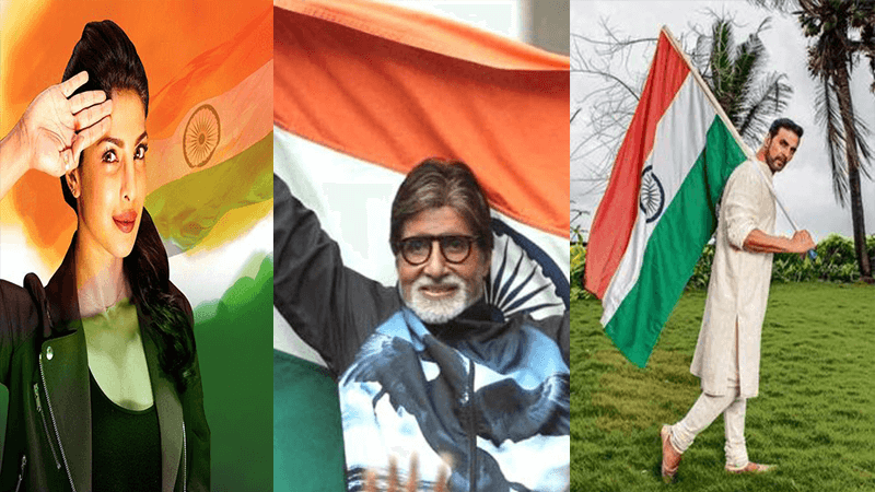 Bollywood stars goes digital to extend warm wishes on the eve of 74th Independence Day