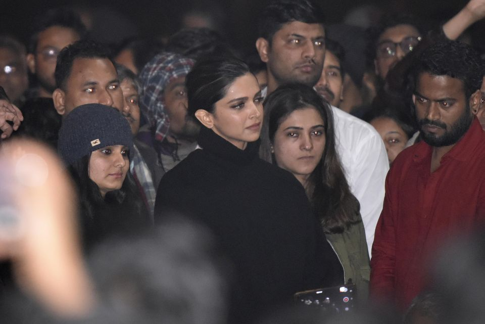 Deepika Padukone visits JNU to express solidarity with students