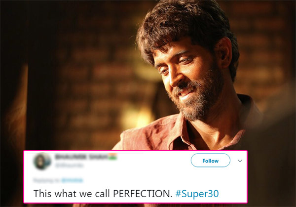 Hrithik Roshan shares his look from Super 30. Perfection, says Twitter