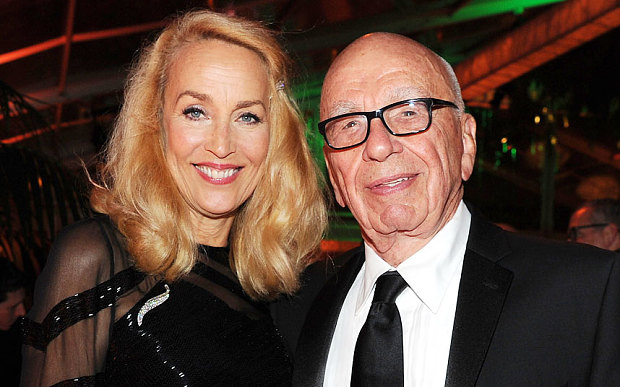 Media Mogul Rupert Murdoch marries Jerry Hall