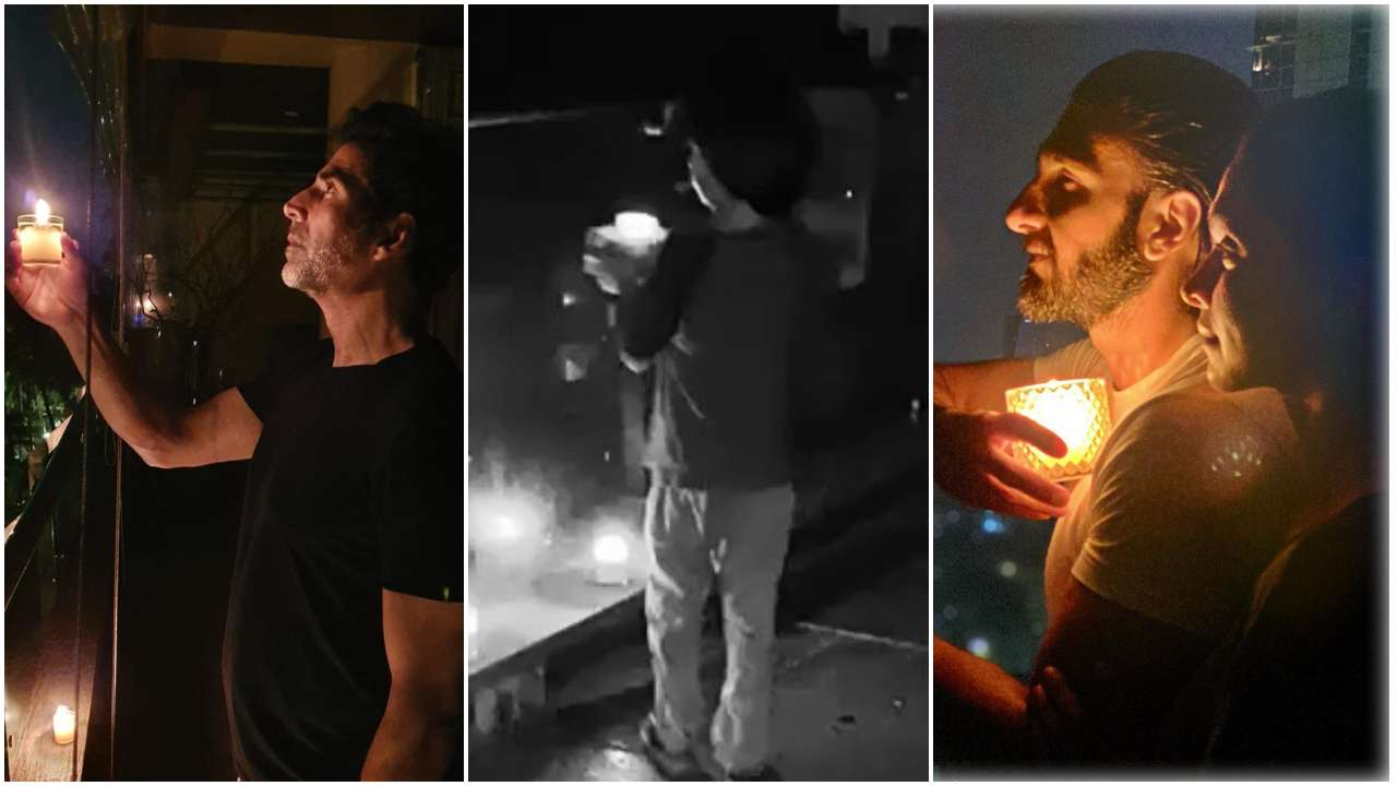 Bollywood Celebrities get ready to participate for 9pm, 9mins candle lighting event