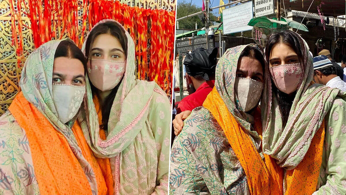 Sara Ali Khan visits Ajmer Sharif Dargah along with mom Amrita Singh, Check Photos