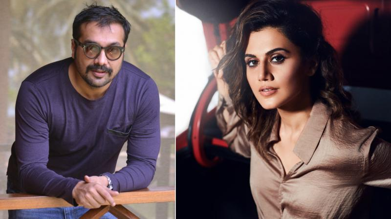 Taapsee Pannu and Anurag Kashyap work out on sets