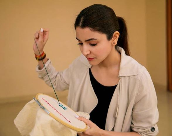 Anushka learns the art of embroidery for Sui Dhaaga