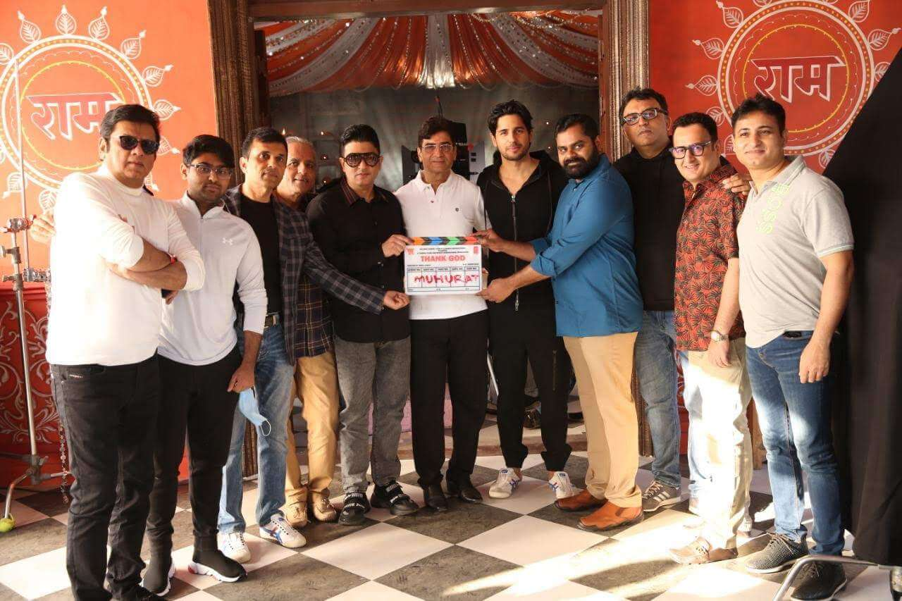 Shoot of Thank God starring Ajay Devgn, Sidharth Malhotra and Rakul Preet goes on floors