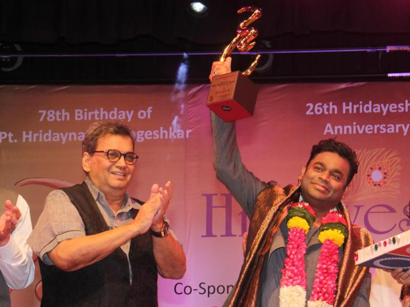 AR Rahman honoured with Hridaynath Mangeshkar award