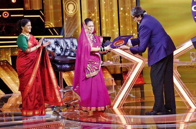Reunuka Shahane participates in Amitabh Bachchan's show KBC 12