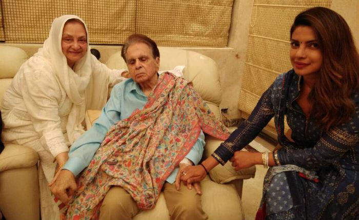 Priyanka Chopra visits Dilip Kumar
