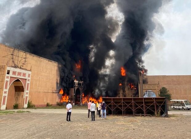Massive fire breaks out on the sets of Jodhaa Akbar at ND Studios, No casualties reported
