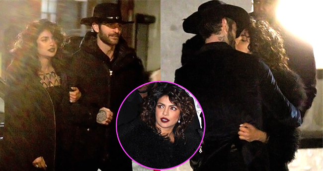 Priyanka Chopra snapped kissing Alan Powell on the sets of Quantico 3