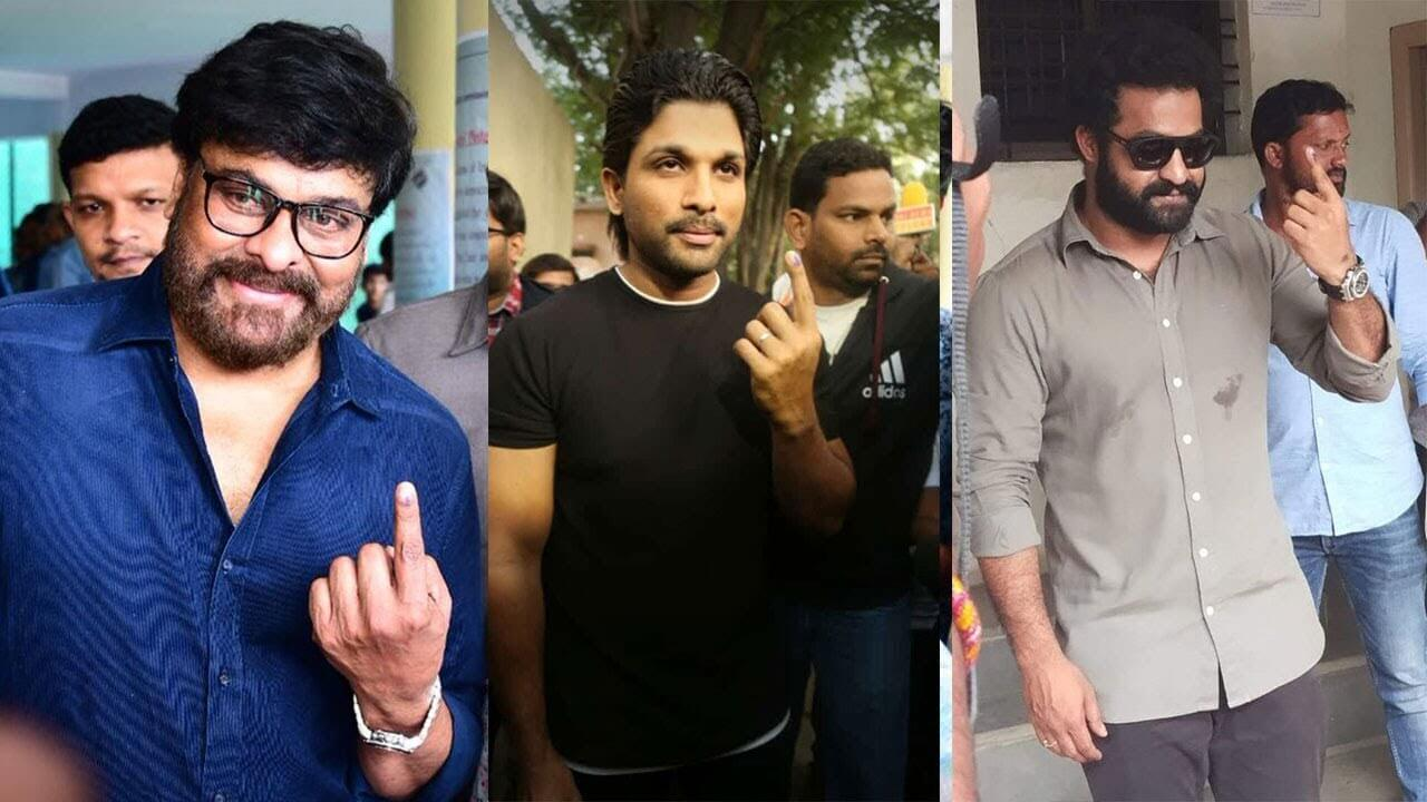 tollywood-stars-cast-their-votes-for-ghmc-elections-2020